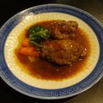 柿の種 - 手作りハンバーグ420円(税込)