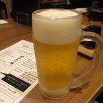 おうどん とろとろ房 - 生ビール 215円(税抜)