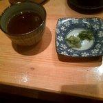 姫すし - 蕎麦と握り4貫セット(つゆ・薬味)