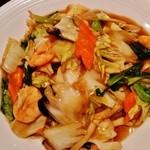 香港私菜 Repulse Bay - 『五目焼きそば』(1404円)!!今日は、具材の量、餡の味、量、麺の固さ、焼き加減が完璧だった~♪(^o^)丿
