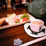 なかむら - 岩魚の骨酒とおつまみセット