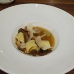 シャトン - 岩手県産天然キノコと大和豚のトルテリーネ スープ仕立て
