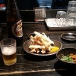 山元麺蔵 - ゴボウの天ぷらとビール★