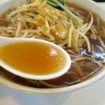 43671768 - 心地よい辛さとニンニク風味のスープ