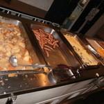 レストラン白根 - 朝食ブッフェ台の一部