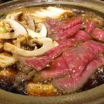 43673814 - 宮崎産黒毛和牛と松茸のすき焼き
