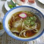 山崎旅館 - 夕食、汁ものはうどんでした。