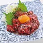 桜肉のユッケ