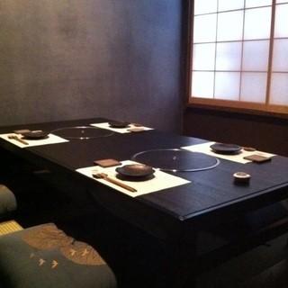 3名様~6名様まで対応可能な完全個室