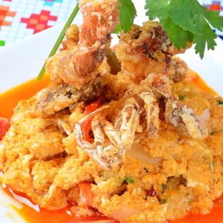 ★「プーニムパッポンカレー」も人気の一品料理です♪