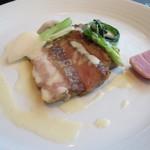 イル カンティニエーレ - 豚肩ロースのグリル ゴルゴンゾーラチーズのソース
