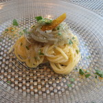 イル カンティニエーレ - スぺシャリテ からすみと生シラスの冷製スパゲッティーニ