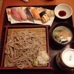 43694723 - お寿司そばセット