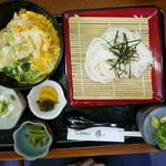 纏 - ロースかつ丼セット(950円)
