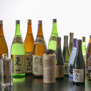 厳選した日本酒・焼酎など豊富に取り揃えております