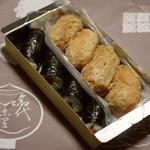 おつな寿司 - いなり寿司(1個100円×4)のり巻(1本300円)箱(50円)2015年10月