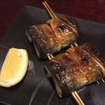 光徳 - この焼き方は初体験、秋刀魚の串焼き。