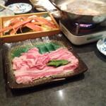 魚彦 - しゃぶしゃぶの肉とカニ