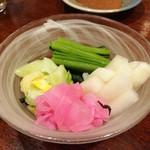 居酒屋さざん - お新香の盛り合わせ350円