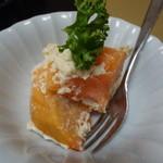 やまに郷作 - 柿の白和え(どぶ汁定食)