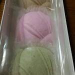 長谷源菓子舗 - 「玉うさぎ」三色。