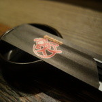 43726207 - 箸置きが餃子のタレ皿に