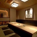 銀座江島 - 「掘り炬燵個室」は最大8名様までご利用いただけます。