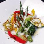 季節野菜のグリルサラダ クリームチーズソース
