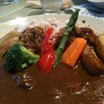 カフェ リディアン - 函南ファームの野菜カレー アップ