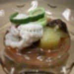 和彩弥 嶋川 - 料理写真:鱧と茄子梅じゅん菜掛け