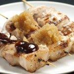 焼鳥 義晴 - 豚バラ(塩・おろしポン酢・味噌焼) 各100円
