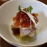 創作料理 まさぞう - 前菜、津軽どりのロール巻き、ポン酢ジュレ