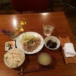 43760517 - 豚肩ロースの味噌生姜焼きランチ1,080円