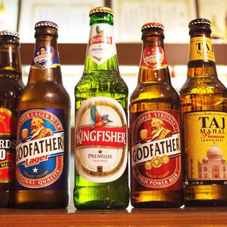 インド産ビール、ワインが充実