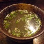 地どり炭火焼 鳥まる - ☆鳥スープはコラーゲンたっぷりです☆