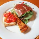 コルノロッソ - ランチの前菜プレート