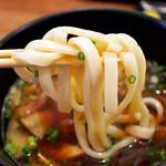 かばのおうどん - 太麵
