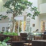 パパス カフェ - 広い吹き抜けの空間