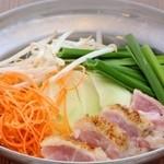 炙り鶏 塩鍋