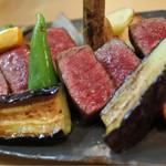 43804499 - 佐賀牛ロースと季節のグリル野菜