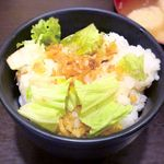 ホワイト餃子 - 油ご飯 ¥300