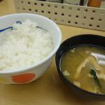 松屋 高田馬場店 - ご飯と味噌汁