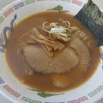 フォーラムめん 製麺事業部 - 友人が頼んだ、朝らーめん味噌味&チャーシュー320円(2015.10.27)