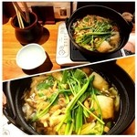 串と刺身 さんびょうし - きりたんぽ鍋1500円