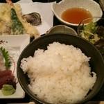 43817858 - 刺身と天ぷら定食