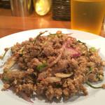 パッポンキッチン - 牛挽肉のラープ