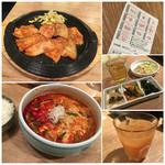 43836415 - 特製味噌だれサムギョプサルとユッケジャンスープ