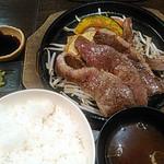 ふぅわ黒毛和牛ハンバーグ - 7周年特別メニュー「松阪牛スライスステーキ」