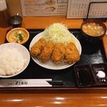とんかつ まさむね - 特ヒレかつ定食 (2015/10)
