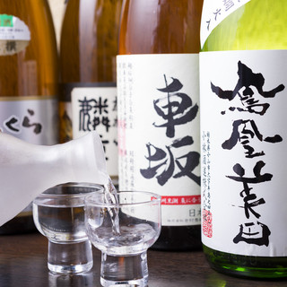 店主厳選の日本酒・焼酎…お料理に良く合うお酒をご用意…
